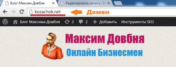 Как выглядит домен