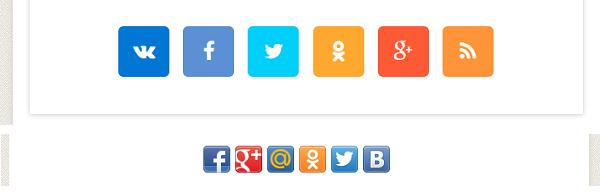 Изменил социальные кнопки